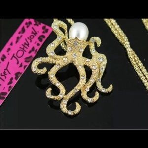 Betsey Johnson octopus necklace